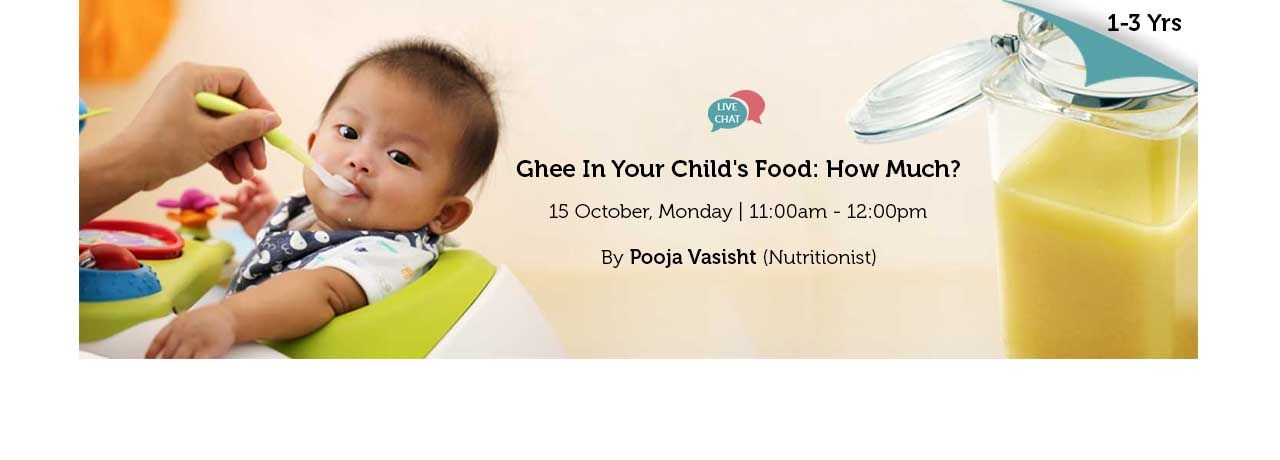 How Much Ghee is Advisable in a Day to the Kids