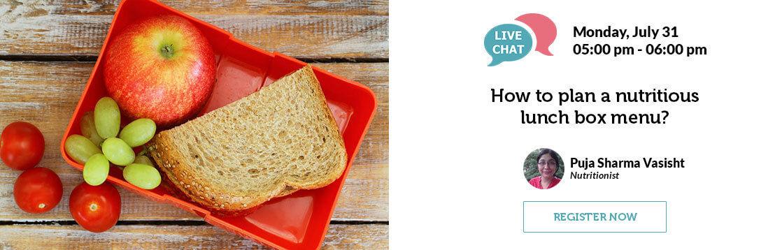 How to plan a nutritious lunch box menu