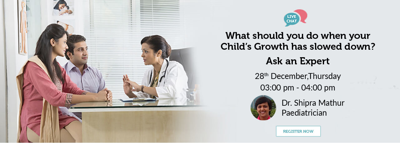 What should you do when your childs growth has slowed down