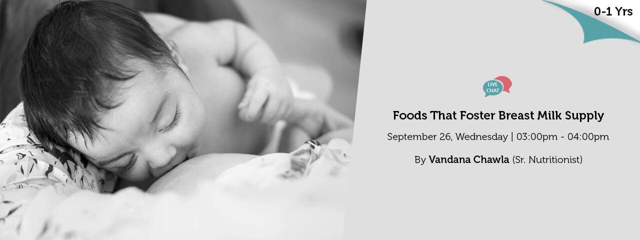 Foods That Foster Breast Milk Supply
