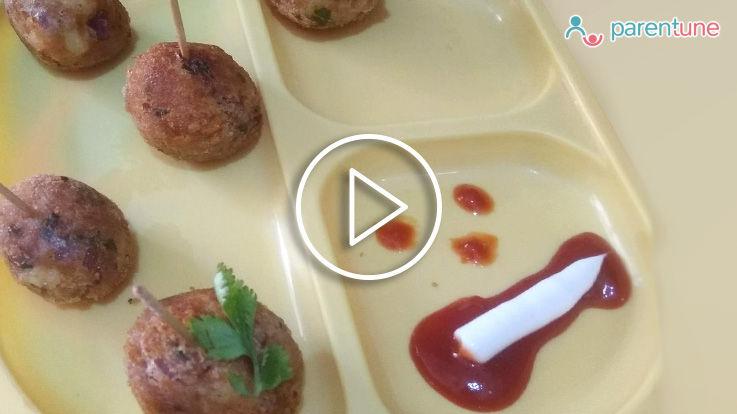 5 मिनट में कैसे बनाएं स्वादिष्ट आलू लॉलीपॉप कटलेट अपने बच्चे के लिए