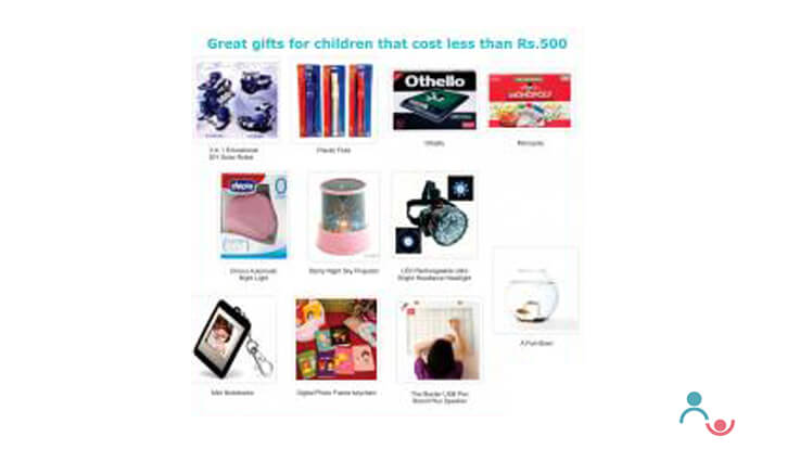Great gifts for Children that cost less than Rs 500