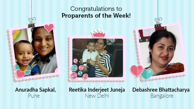 Announcing the Winners of Proparents of the Week
