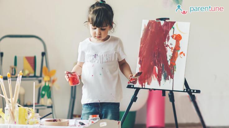 बच्चों को ऐसे सिखाएं पेंटिंग बनाना
