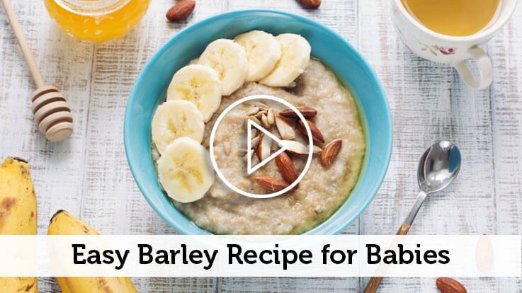 Barley Apple Porridge Recipe for Babies