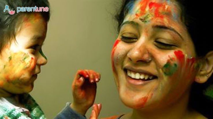 What If Celebrating First Holi With Your Baby