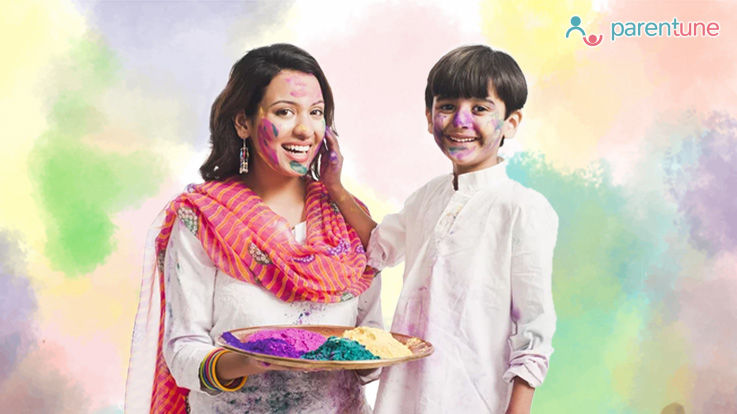 What Precautions to Take When Playing Holi with Toddlers Infants
