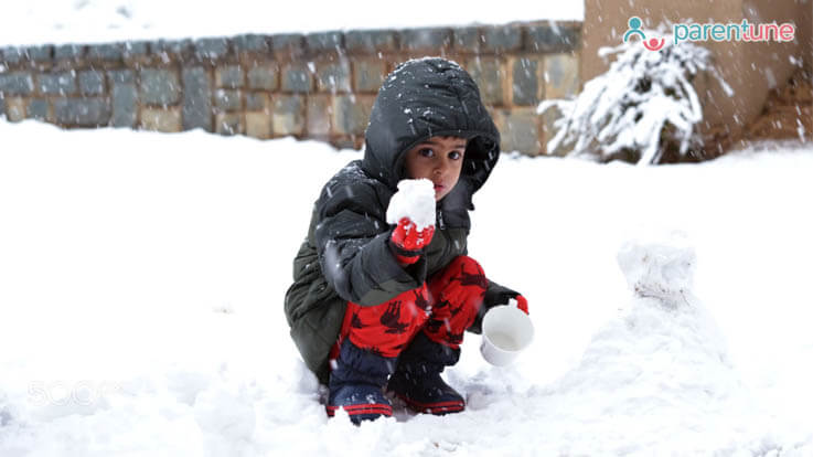 How to plan for your childs first snowfall experience