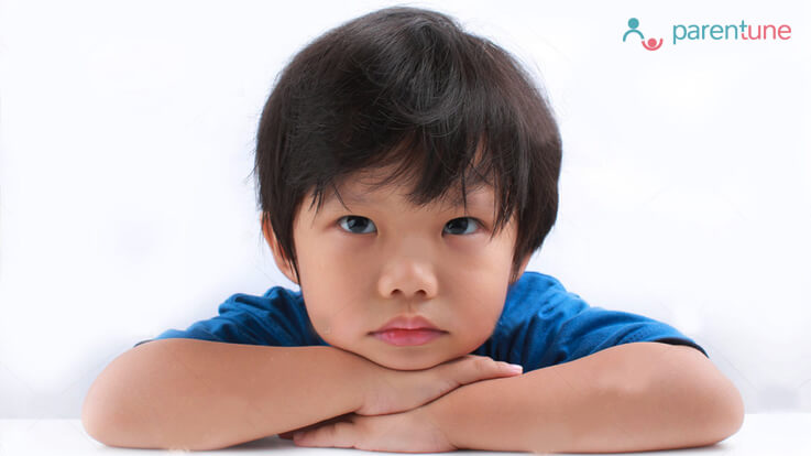 Lazy eye syndrome in children