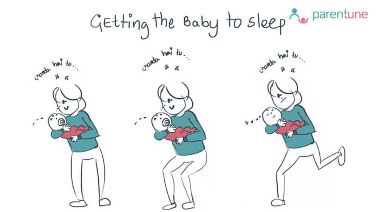 Parentoon Getting The Baby To Sleep