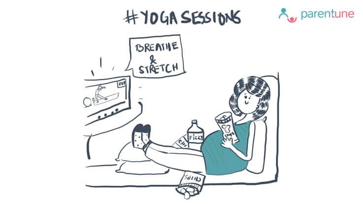 Parentoon Yoga session