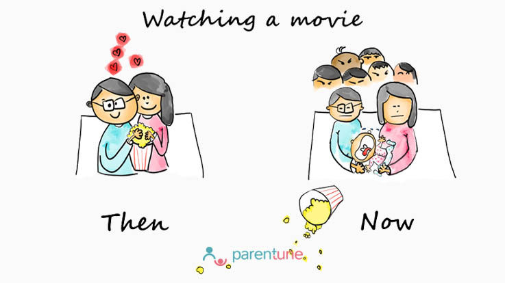 Watching a movie then and now