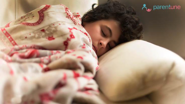 बच्चों को रात में देरी से सुलाने के दुषप्रभाव