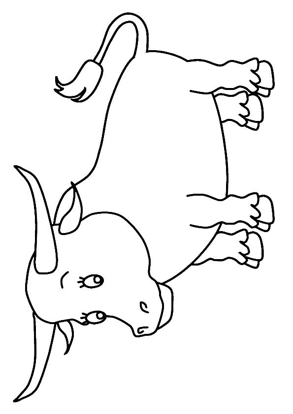 Snorting Bull coloring pages