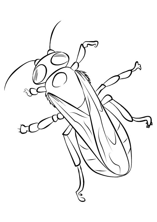 Crawling Bee coloring pages