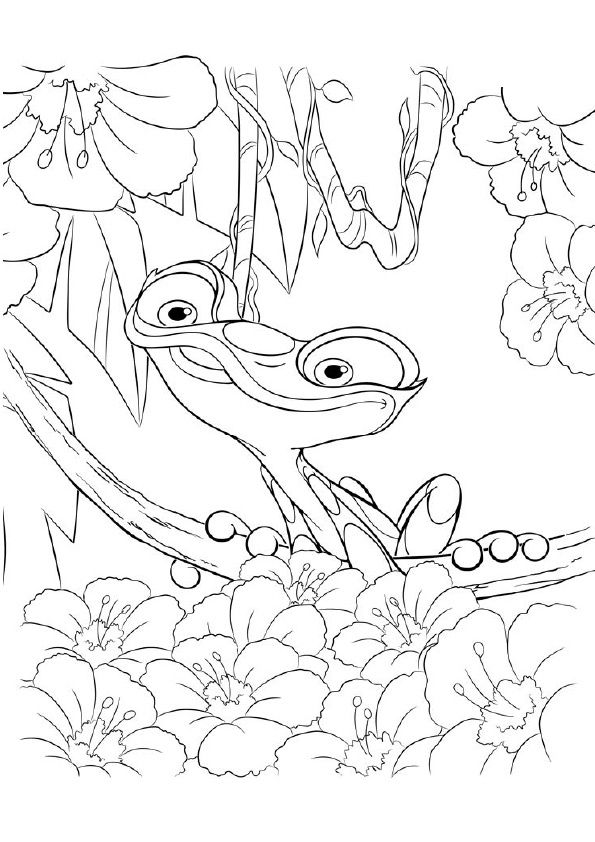 Gabi Frog coloring pages