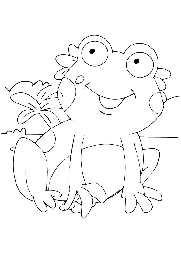 Cute Frog coloring pages