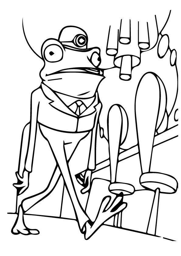 Frankle Frog coloring pages