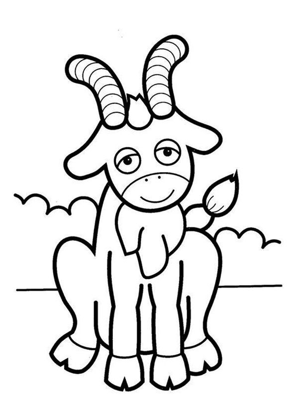 Goat with Horns coloring pages