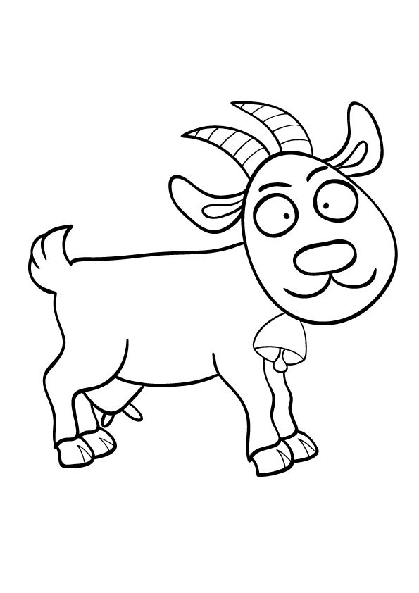 Cartoon Goat 2 coloring pages