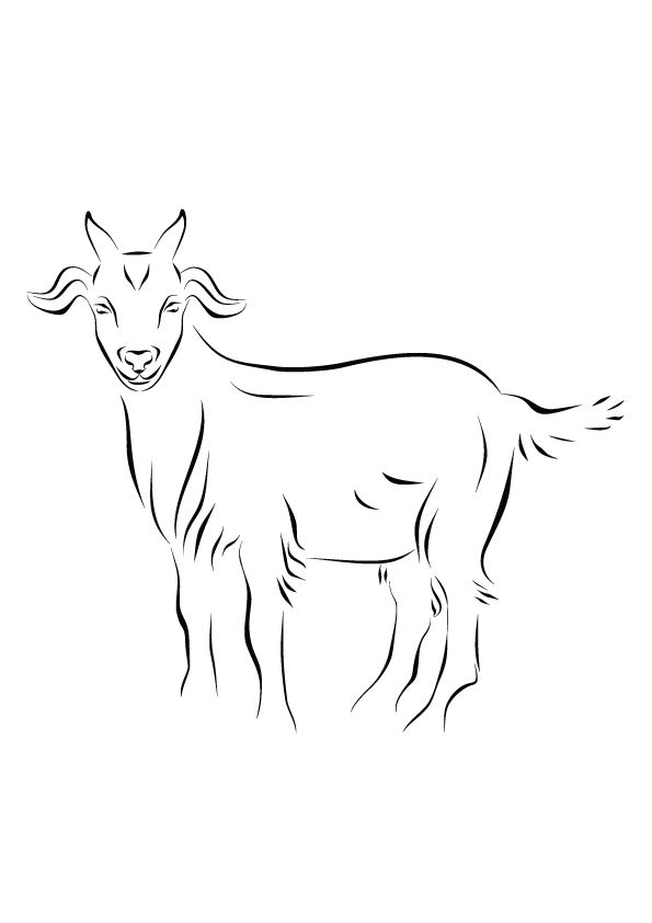 Goat Art coloring pages