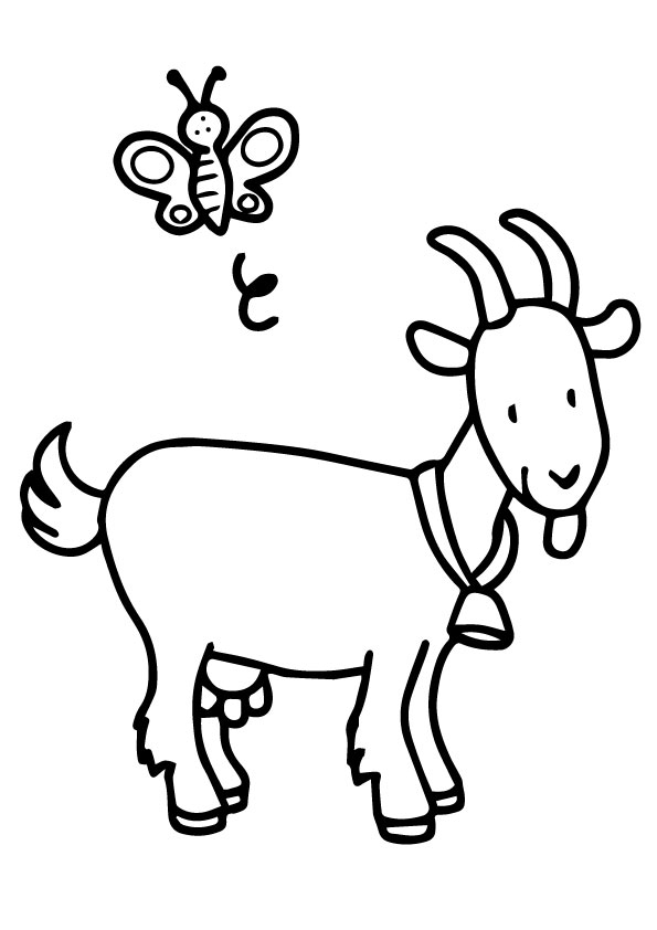 Goat & Bee coloring pages