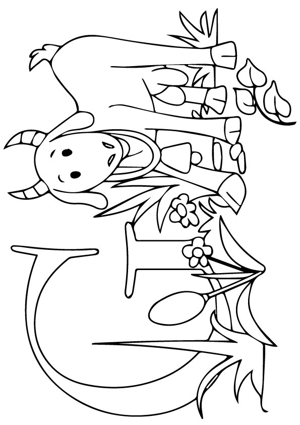 G for Goat 2 coloring pages