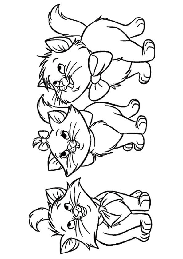 Orphan Kittens coloring pages