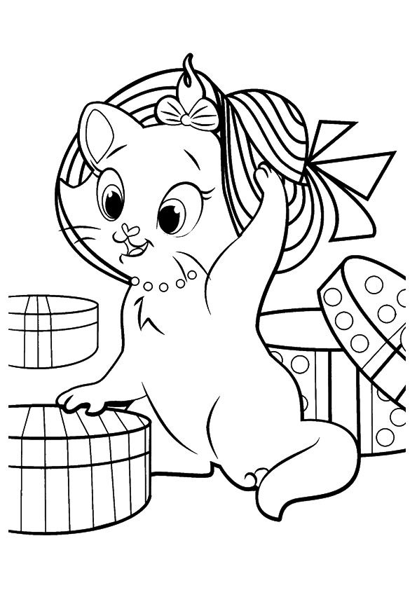 Marie Kitten coloring pages