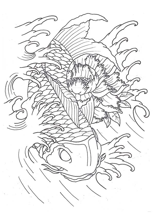 Lucky Koi Flash coloring pages