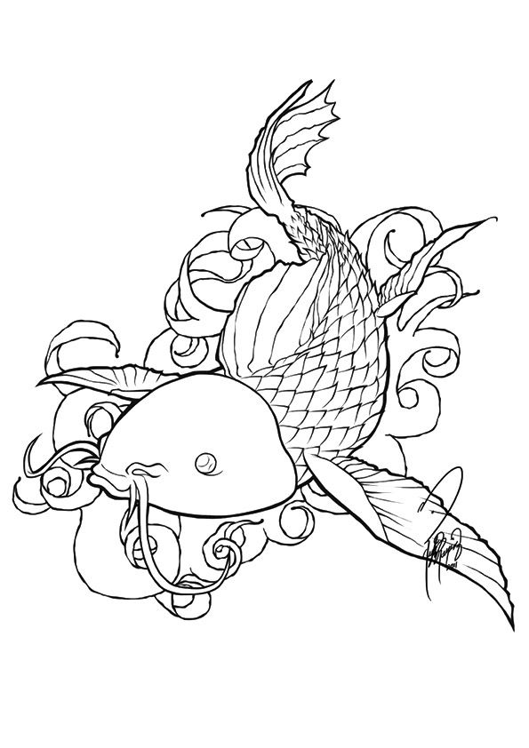 Koi Fish 2 coloring pages
