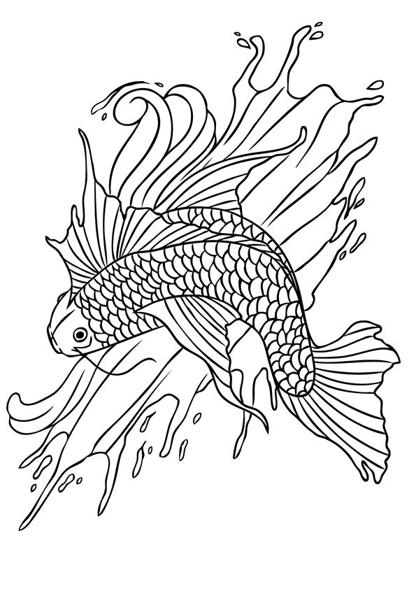 Koi Fish 3 coloring pages