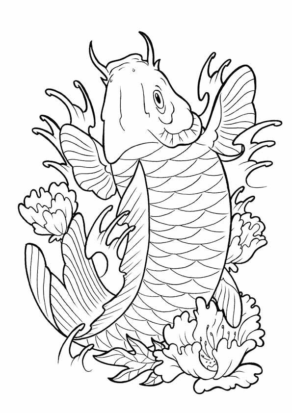Koi Fish Laranj coloring pages
