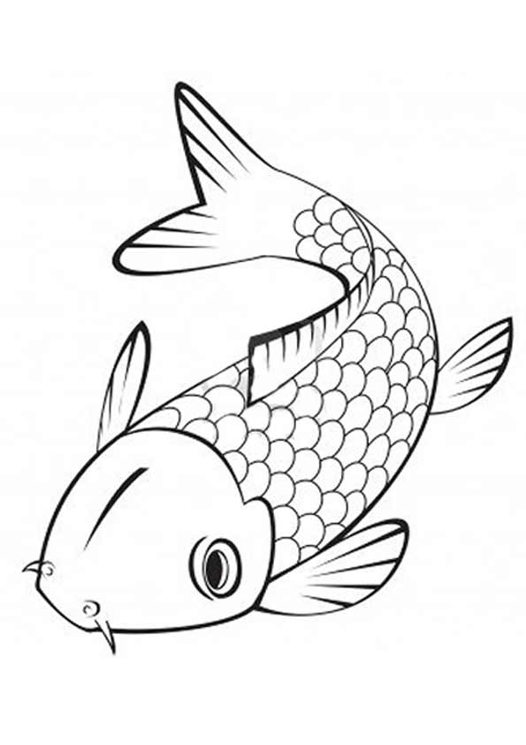 Japanese Koi Fish 2 coloring pages