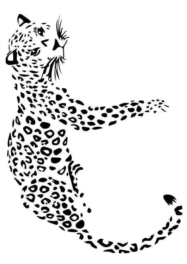 Lurker Leopard coloring pages