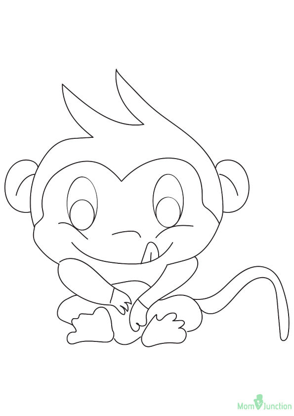 picture relating to Printable Monkey Coloring Pages named No cost Printable Monkey Coloring Internet pages, Monkey Coloring