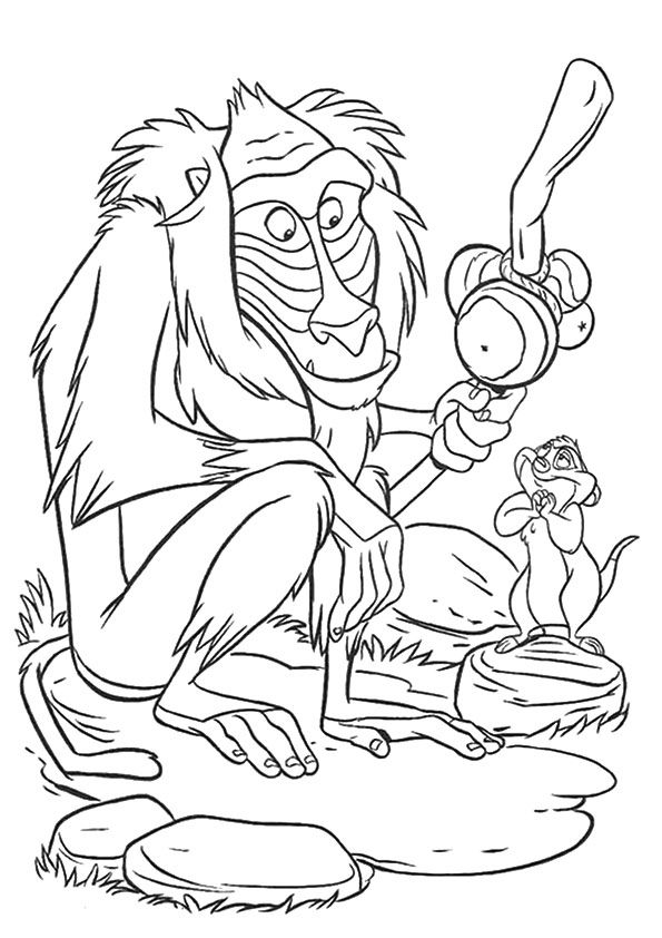 Baboons Monkey coloring pages