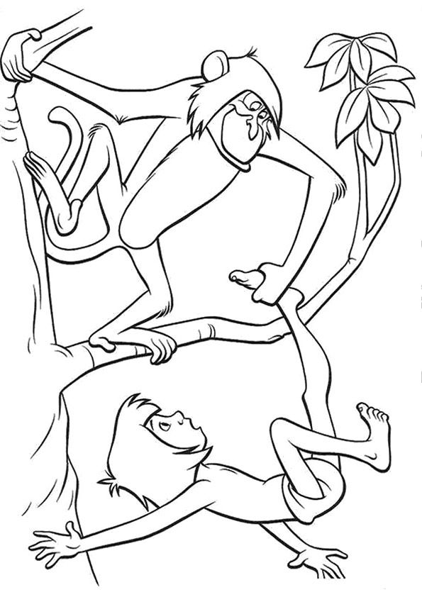 Jungle Book Monkey coloring pages