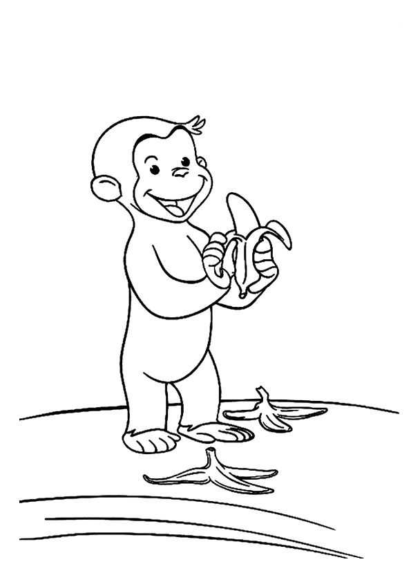 Eating Monkey coloring pages