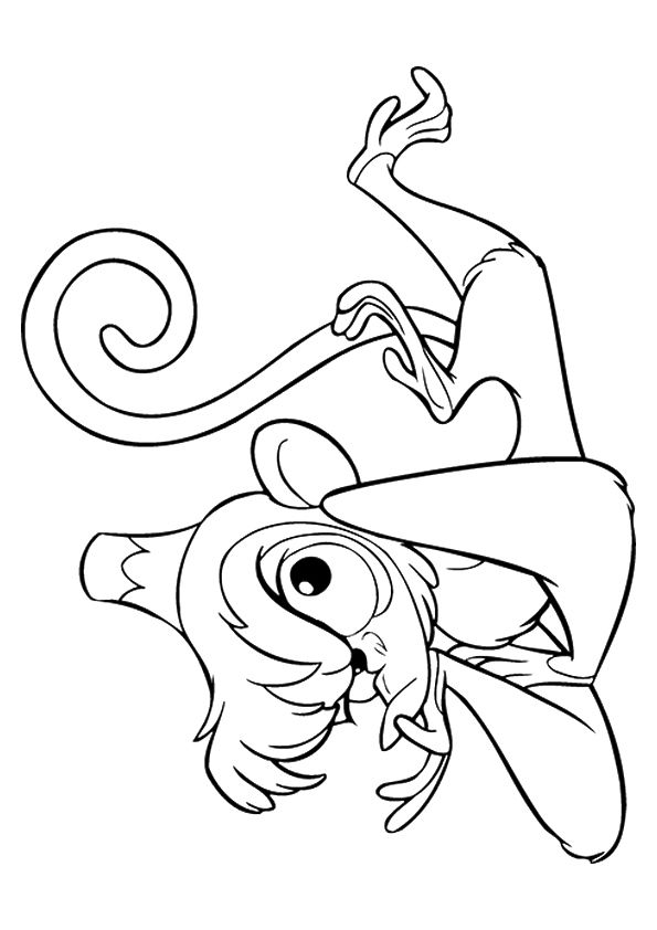 Aladdin Abu coloring pages