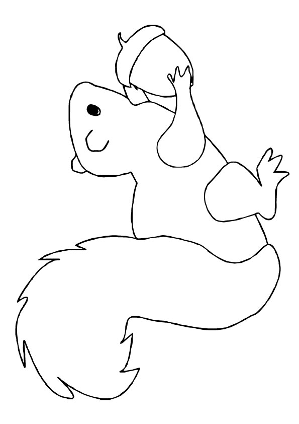 Squirrel worksheet coloring pages