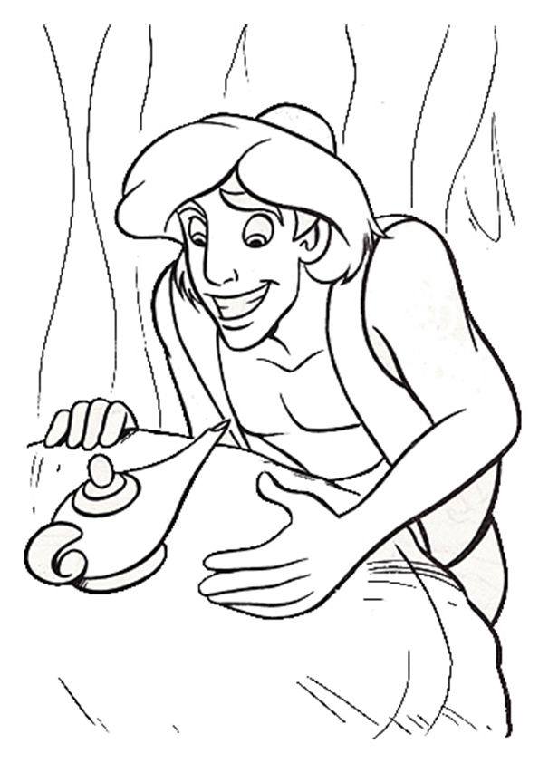 Aladdin Chirag coloring pages