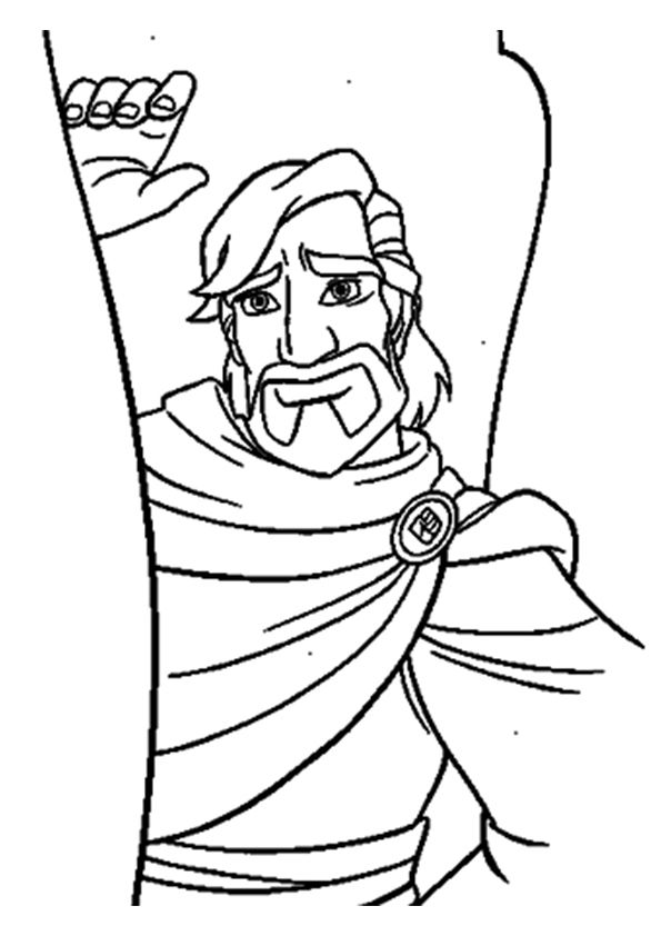 Cassim Aladdin coloring pages