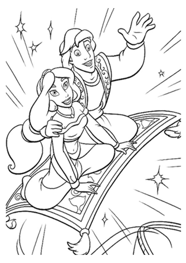 Aladdin Magic Carpet coloring pages