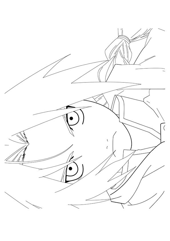 anime 3 coloring pages