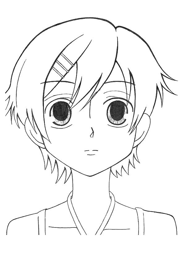 anime 4 coloring pages