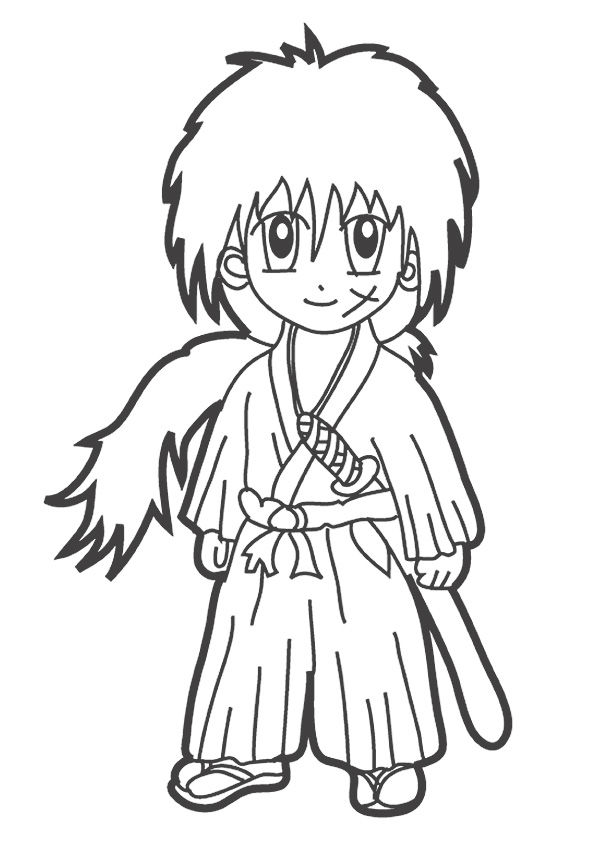 anime 5 coloring pages