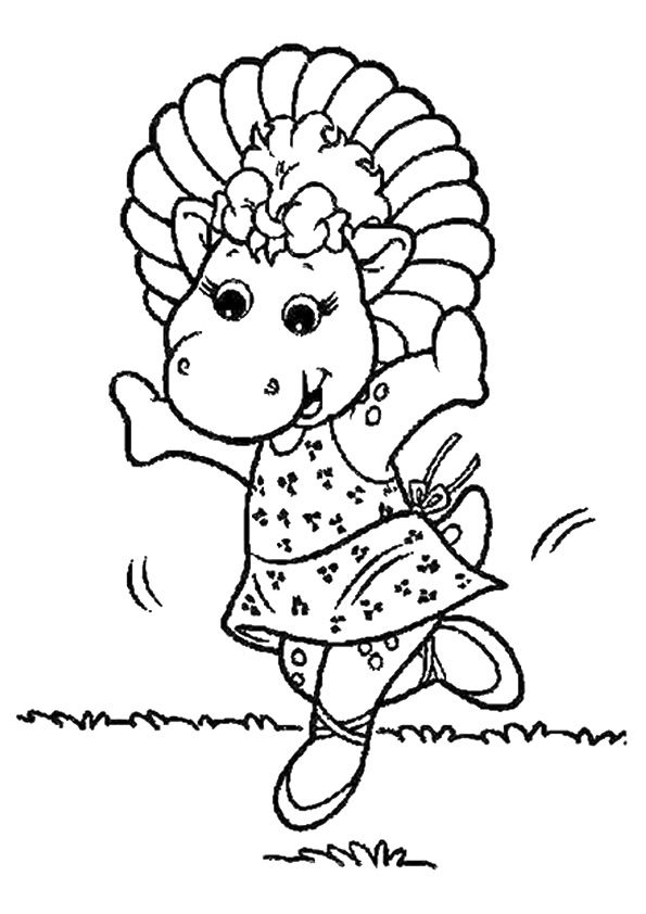 Baby Baby bop coloring pages