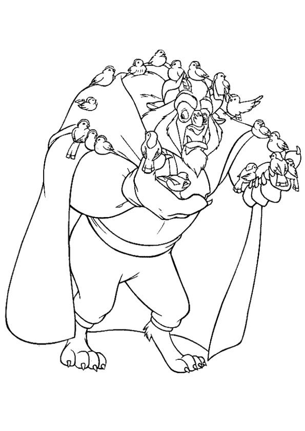 Beauty and the Beast coloring pages | Print and Color.com | 842x595