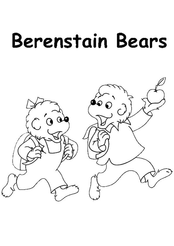 A Berenstain Bears apple coloring pages